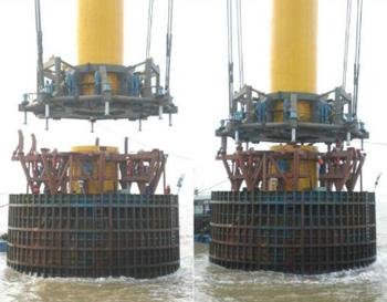 海上风电高耐腐灌注浆体平台应用